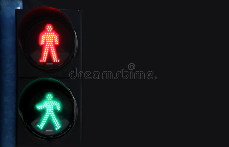 New life concept, Traffic Signals Warning with the BLANK Background royalty free stock images