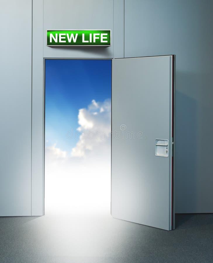 New life door to heaven royalty free stock photos