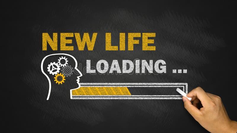 New life loading concept. On blackboard stock photo
