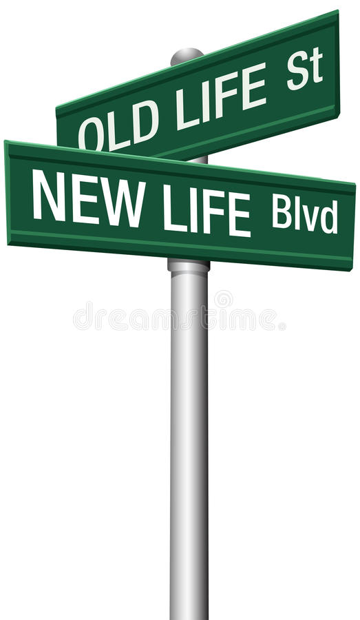 Download New Life Or Old Change Street Signs Stock Vector - Illustration of improvement, concept: 27174058