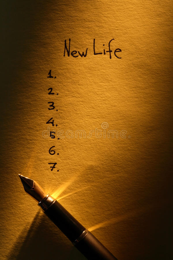 New Life Planning royalty free stock image