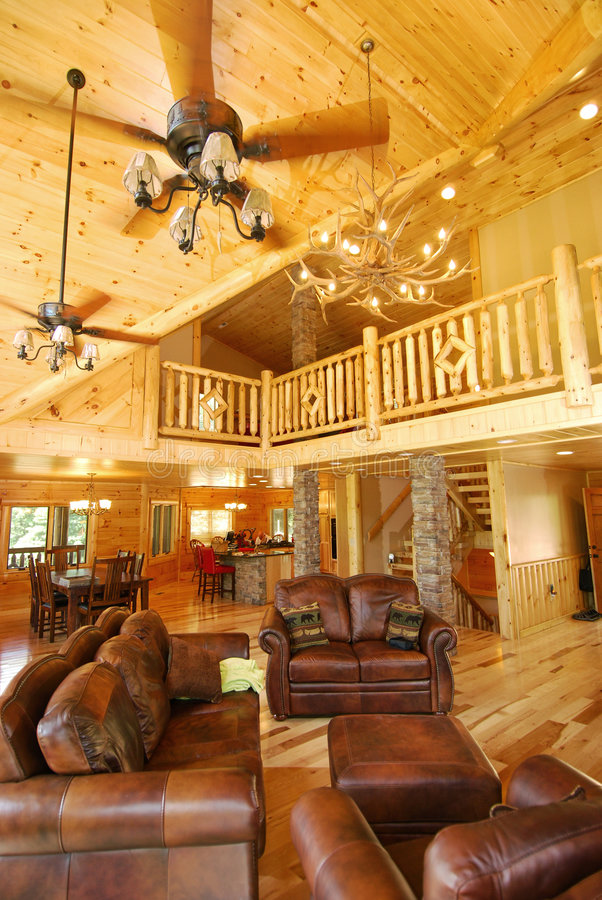 Free New Log House Interior Royalty Free Stock Images - 5636059