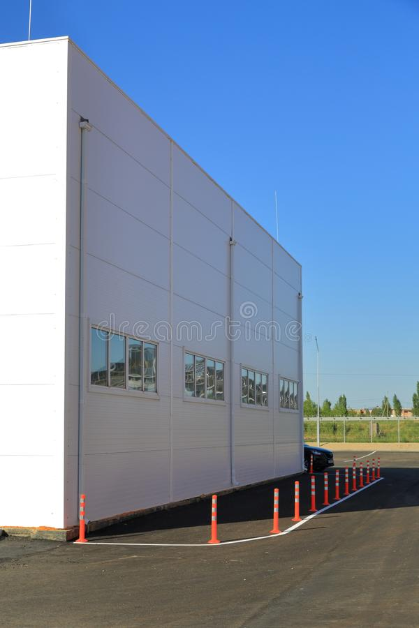 New logistics centre for food. Products, in anticipation of the launch and branding stock image