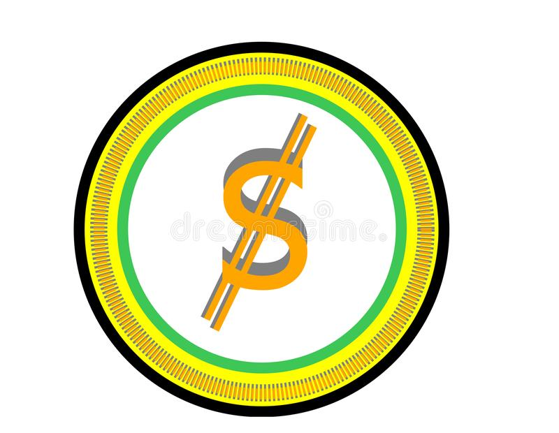 New logo for cryptocurrency business royalty free stock images