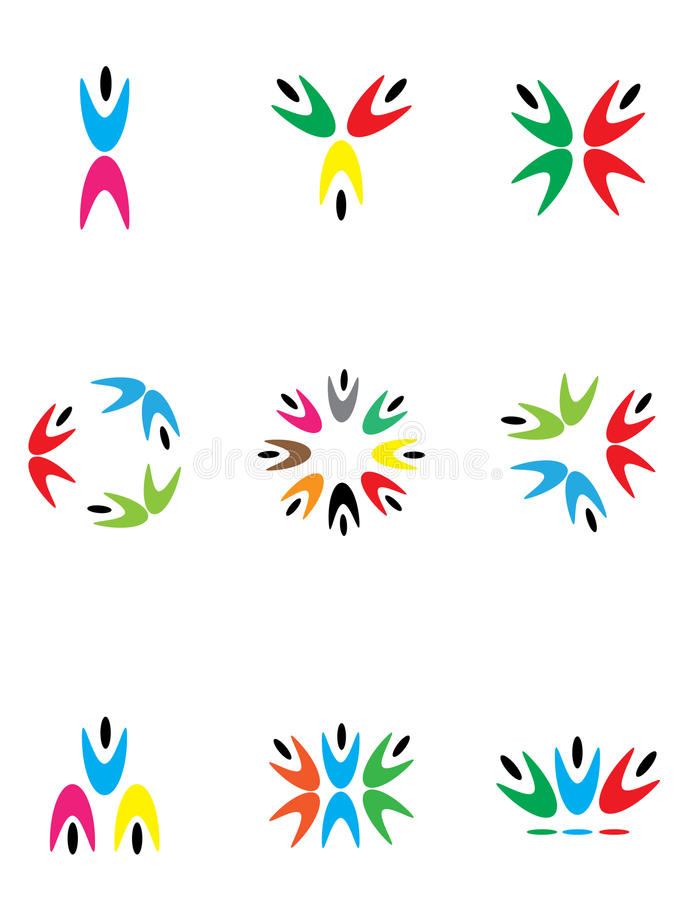 New logos royalty free illustration