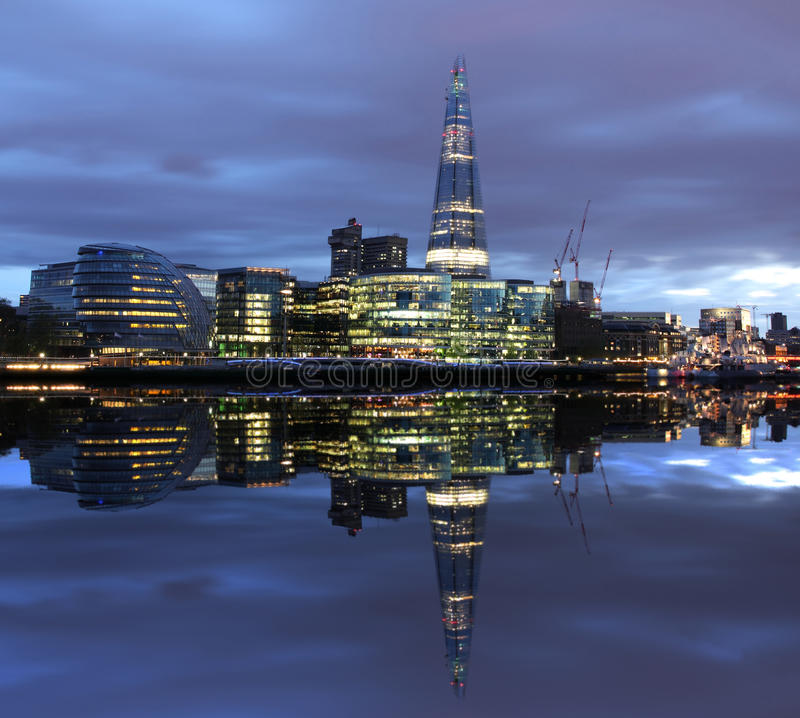 Download New London City Hall At Night Stock Photo - Image: 27010534