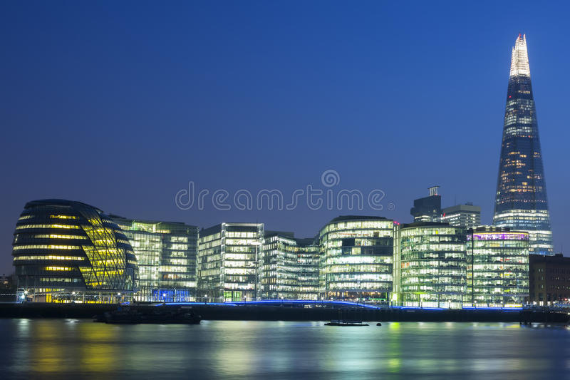 New London city hall. At night royalty free stock images
