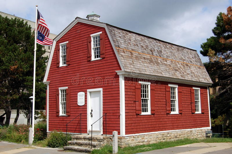 New London, CT: Nathan Hale Schoolhouse stock images