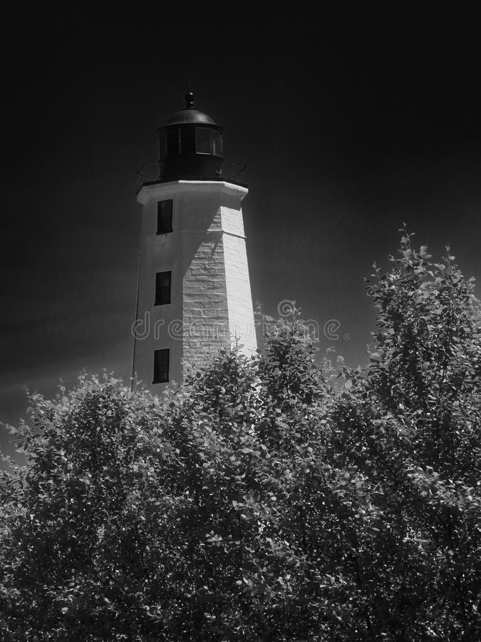 New London Harbor light House Connecticut royalty free stock image