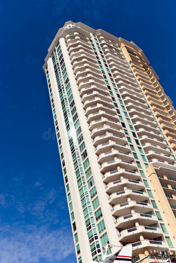 New, Luxury Condominiums In Fort Lauderdale, Florid royalty free stock photo