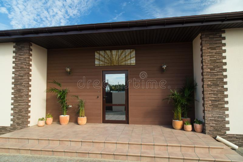 New luxury house exterier. Front door. Exterier concept. royalty free stock images