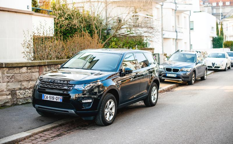New luxury Land Rover Discovery executive SUV royalty free stock photos