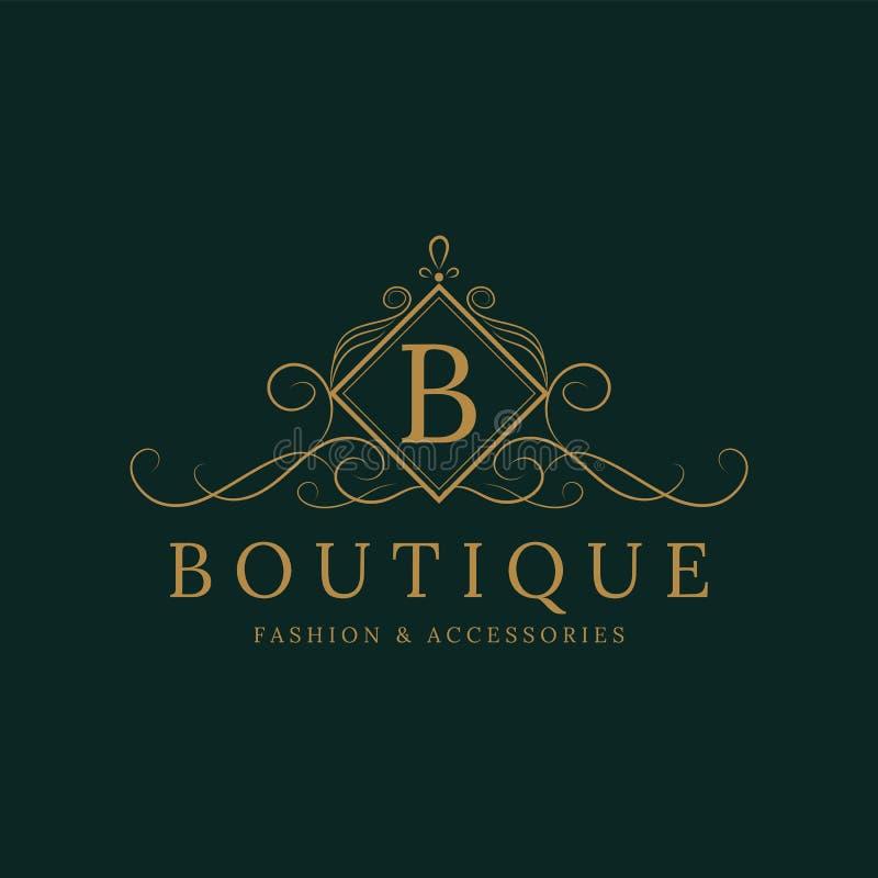 New Luxury Letter R Monogram Vector Logo Design Stock