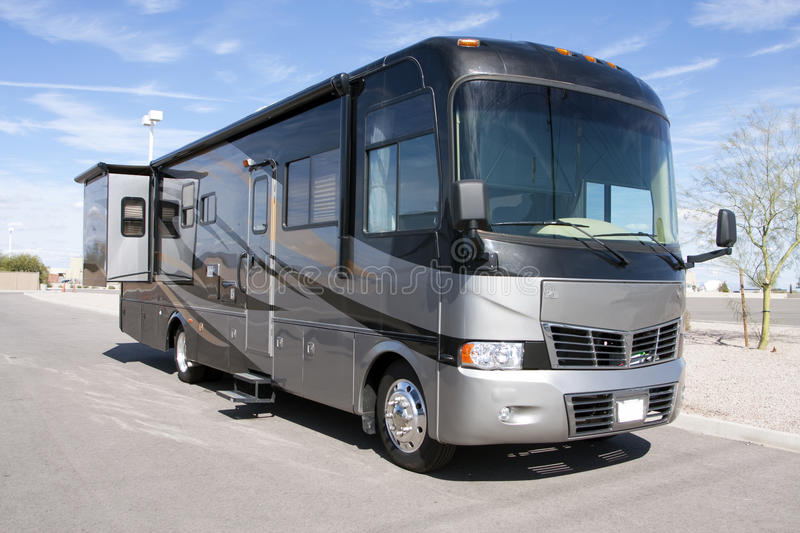 New Luxury Motor Home RV Coach stock image