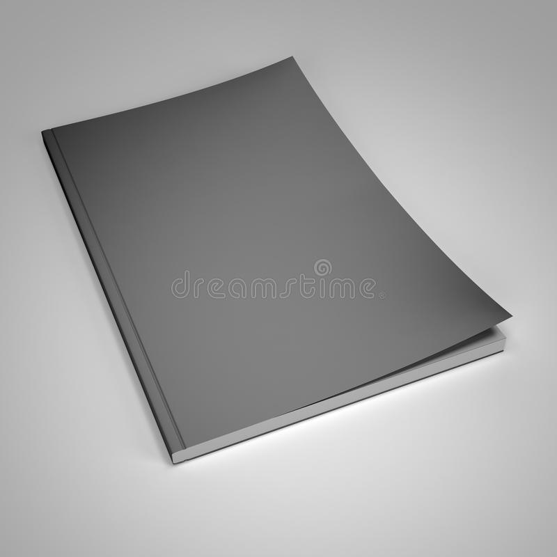 Download New Magazine With Blank Cover Template Stock Illustration - Illustration of title, publication: 25684388