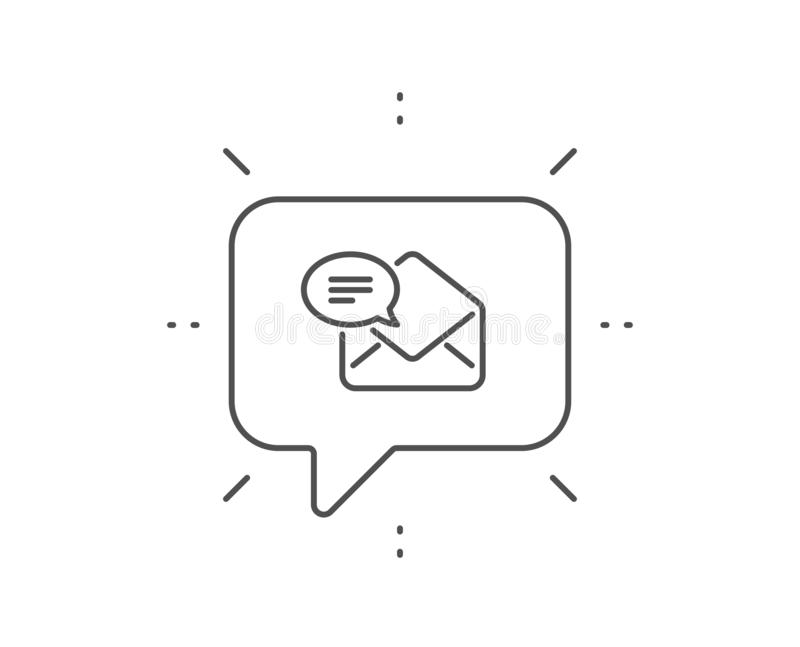 New Mail line icon. Message correspondence sign. Vector. New Mail line icon. Chat bubble design. Message correspondence sign. E-mail symbol. Outline concept stock illustration