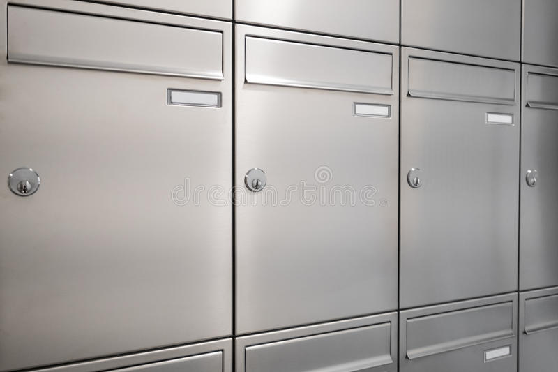 New mailboxes. Many new mailboxes / postbox / letterbox stock images