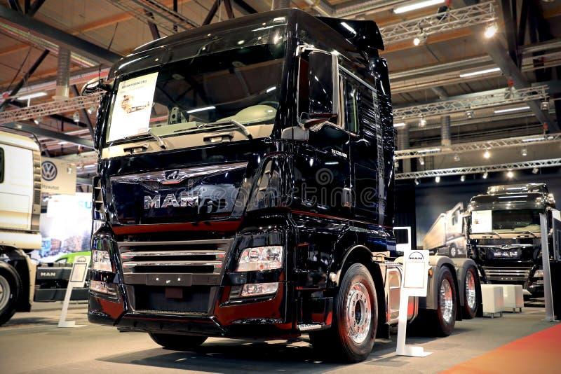New MAN TGX 28.500 Truck on Display royalty free stock photo