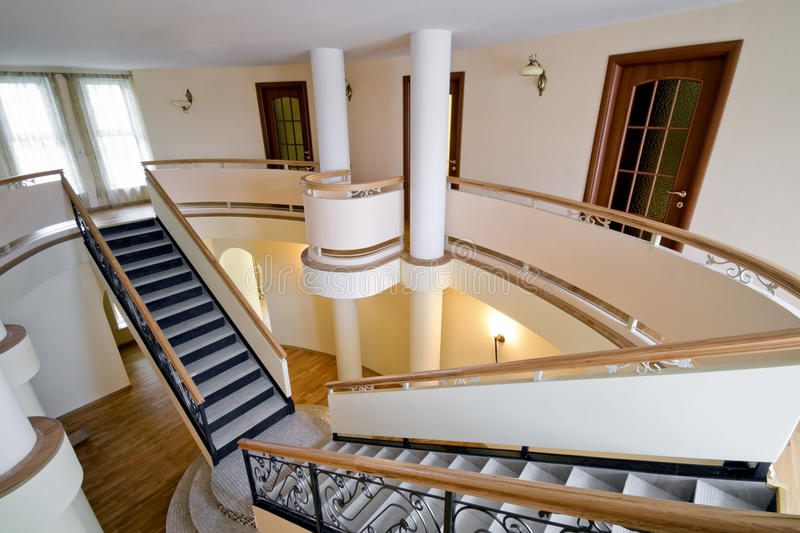 Download New Mansion With Staircase Indoors Stock Image   Image: 12338391