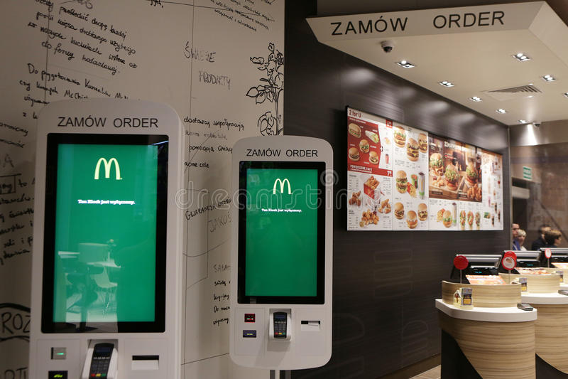 New McDonald`s at Grodzka Street, Cracow stock image
