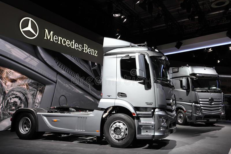 New mercedes benz actros trucks editorial photo image of for Mercedes benz commercial trucks