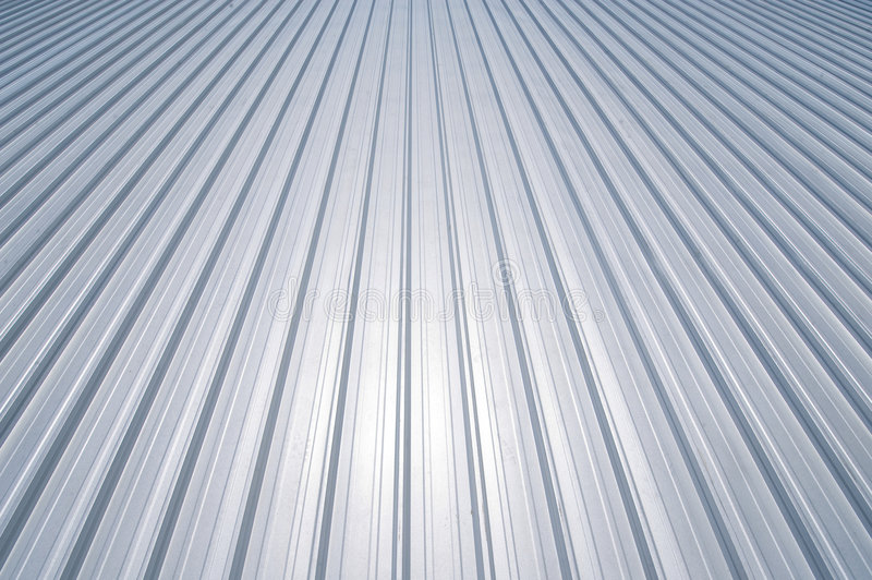 New metal roof stock image