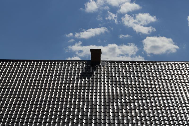 new metal roof stock images