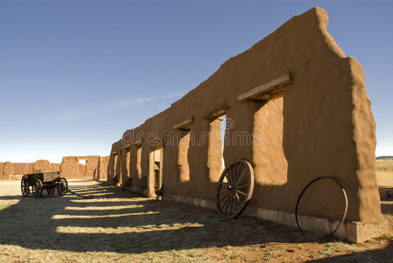 New Mexico. Fort Union US Army frontier post adobe ruins stock photos