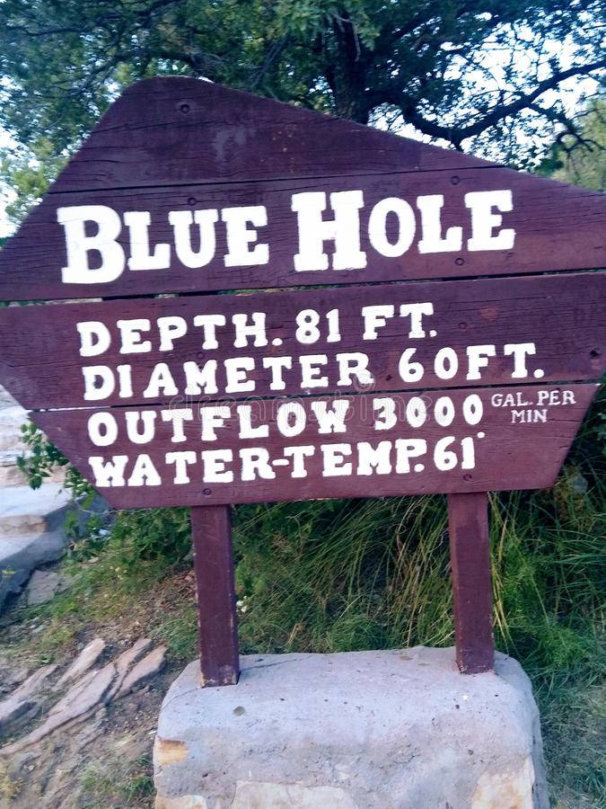 New Mexico blue hole. Sign royalty free stock image