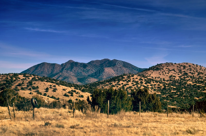 New Mexico Desert Mountains in HDR stock images