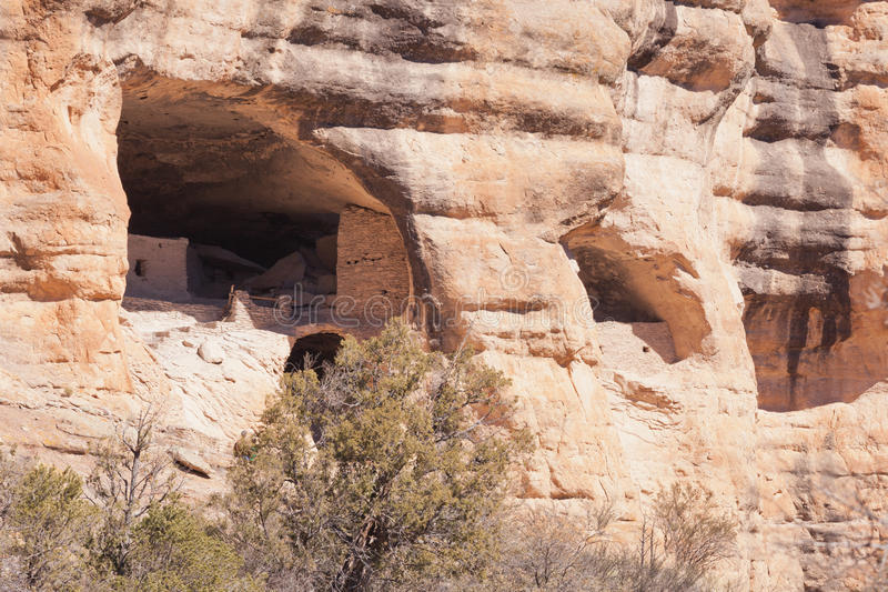 New mexico Gila Cliff Dwellings National Monument foto de stock