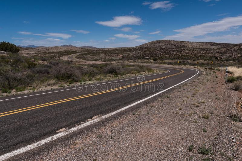 New Mexico Highway 27 scenic view. New Mexico Highway 27 makes its' way from Nutt past the ghost town of Lake Valley to Hillsboro byway scenic usa royalty free stock photo