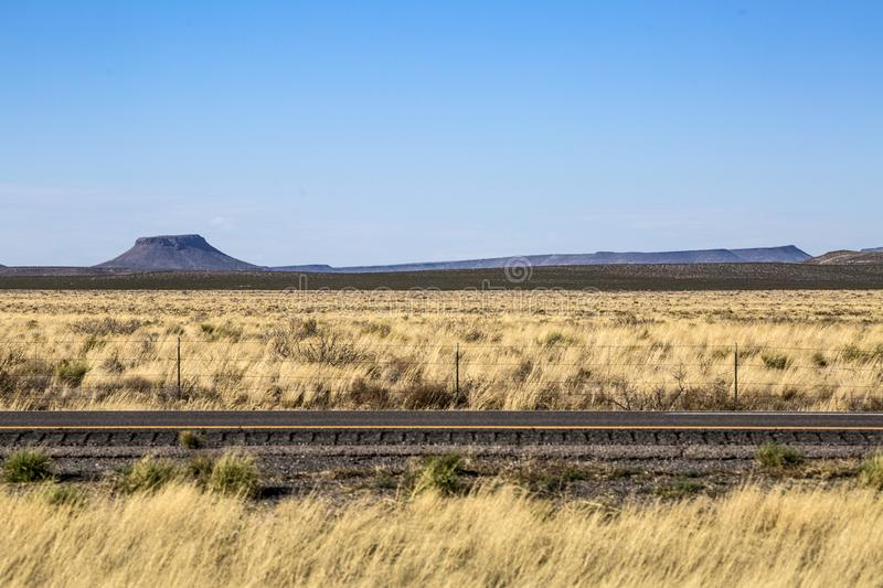 New Mexico - Interstate 10. New Mexico - the Interstate 10 from arizona to El Paso stock photo