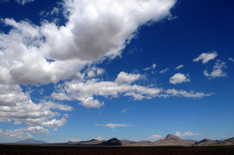New Mexico landscape. And blue skies royalty free stock photography