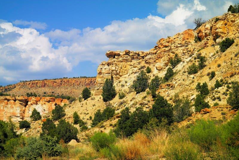 New Mexico landscape. North of Bernalillo stock photo