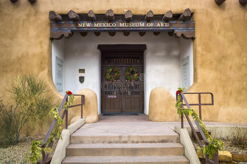 New Mexico Museum of Art. Entrance to the New Mexico Museum of Art, Santa Fe royalty free stock photo