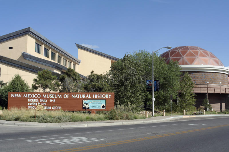 New Mexico Museum of Natural History. An exterior view of the New Mexico Museum of Natural History, located in Albuquerque, New Mexico, USA royalty free stock photo