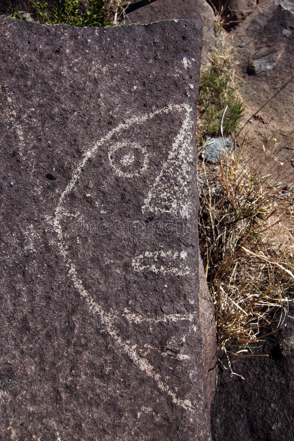 Download New Mexico Petroglyph stock image. Image of outdoor, drawing - 25042109