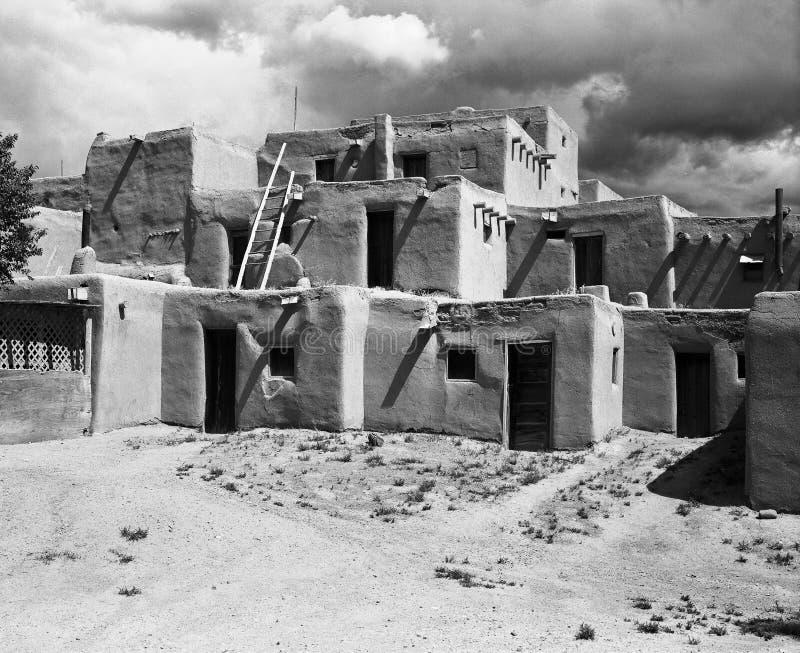 New Mexico Pueblo royalty-vrije stock afbeelding