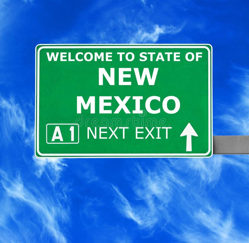 NEW MEXICO road sign against clear blue sky stock image