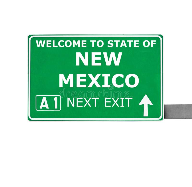 NEW MEXICO road sign isolated on white stock photography