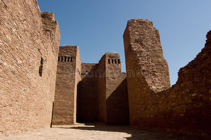 New Mexico Ruin. Abo Ruins of New Mexico royalty free stock images