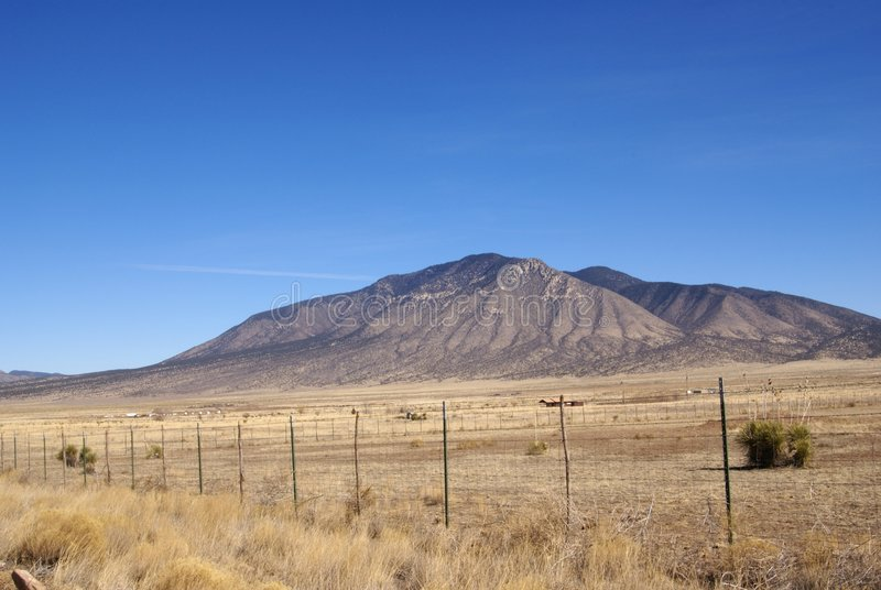 New Mexico Scenery. Central New Mexico USA scenic mountains and desert vista landscape royalty free stock image