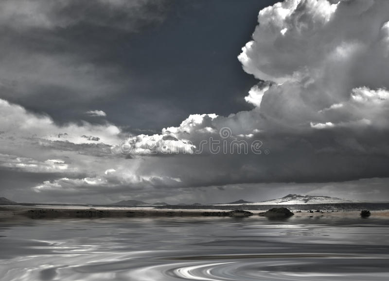 New Mexico Sky and Water. New Mexico Sky Over Still Waters vector illustration