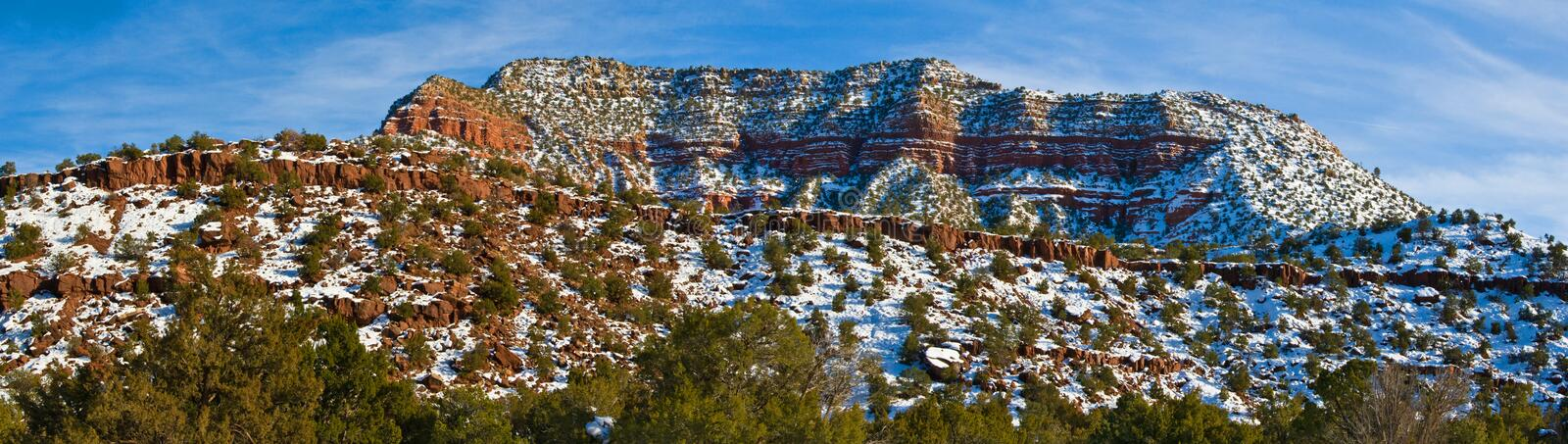 New Mexico snowy landscape. USA royalty free stock photography