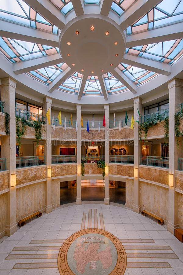New Mexico State Capitol Building. Lobby of the New Mexico State Capitol Building in Santa Fe, New Mexico royalty free stock image