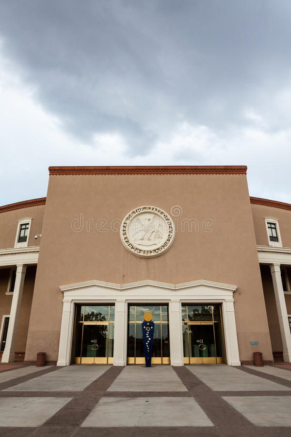New Mexico State House and Capitol Building. In Santa Fe stock photography