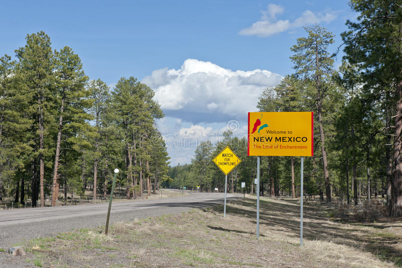 Download New Mexico State Line Sign Royalty Free Stock Photos - Image: 16015478