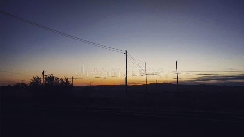 New Mexico sun set royalty free stock photography