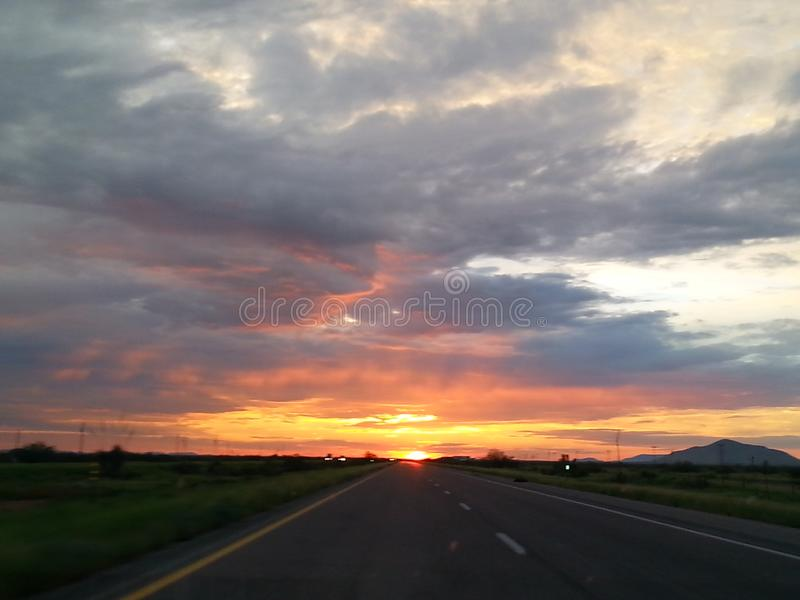 New mexico sunrise. The sun coming up in new mexico stock photos